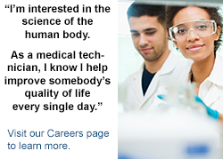 Now hiring medical technologists